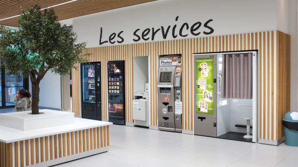 Agencement du mobilier des services de l'Intermarché de Marseille