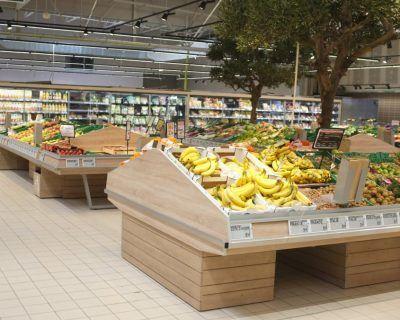 Mobiliers présentoirs fruits et légumes