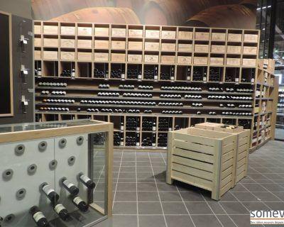 Meubles présentoirs vins