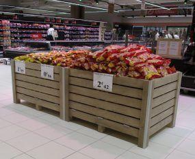 Agencement opération commerciale de l'Intermarché de Marseille