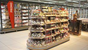 Agencement mobilier saucissons de l'Intermarché de Saint-Marcel
