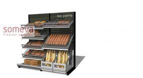 Mobilier boulangerie libre service