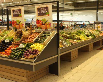 Mobilier pour rayon fruits et légumes