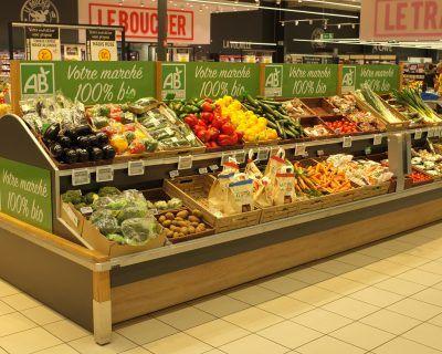 Fruits et légumes en GMS