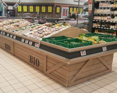 Mobilier fruits et légumes bio