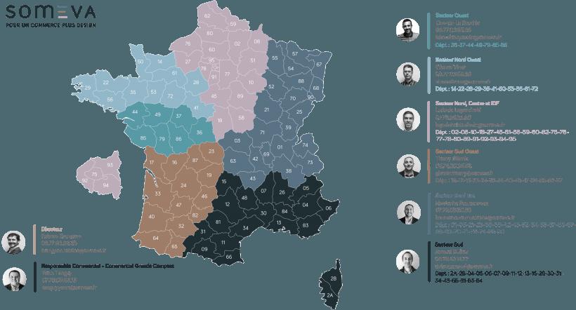 Carte secteurs commerciaux - Janv 2019