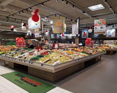 Mobilier rayon fruits et légumes