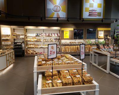 Mobilier présentoir boulangerie libre service