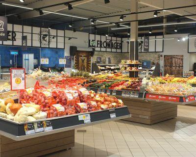 Mobilier GMS rayon fruits et légumes