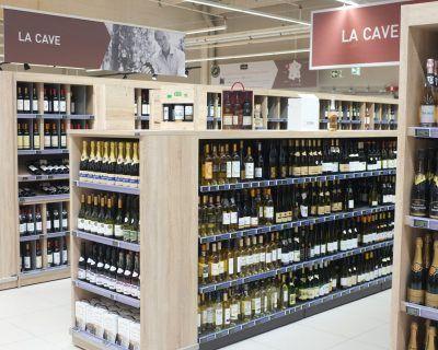 Aménagement rayon vins