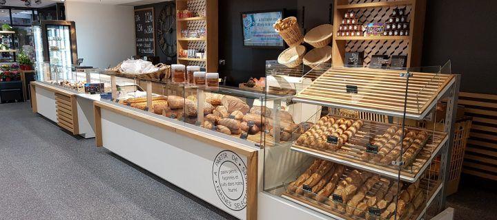 mobilier présentoir boulangerie traditionnelle