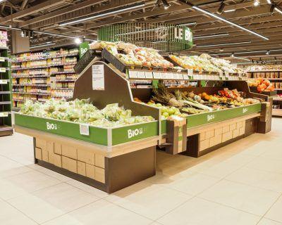 Ilôt pour fruits et légumes bio
